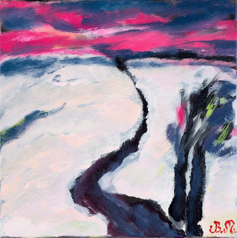 Zorza | Red Sky | Morgenröte, 2016, 30 × 30 cm