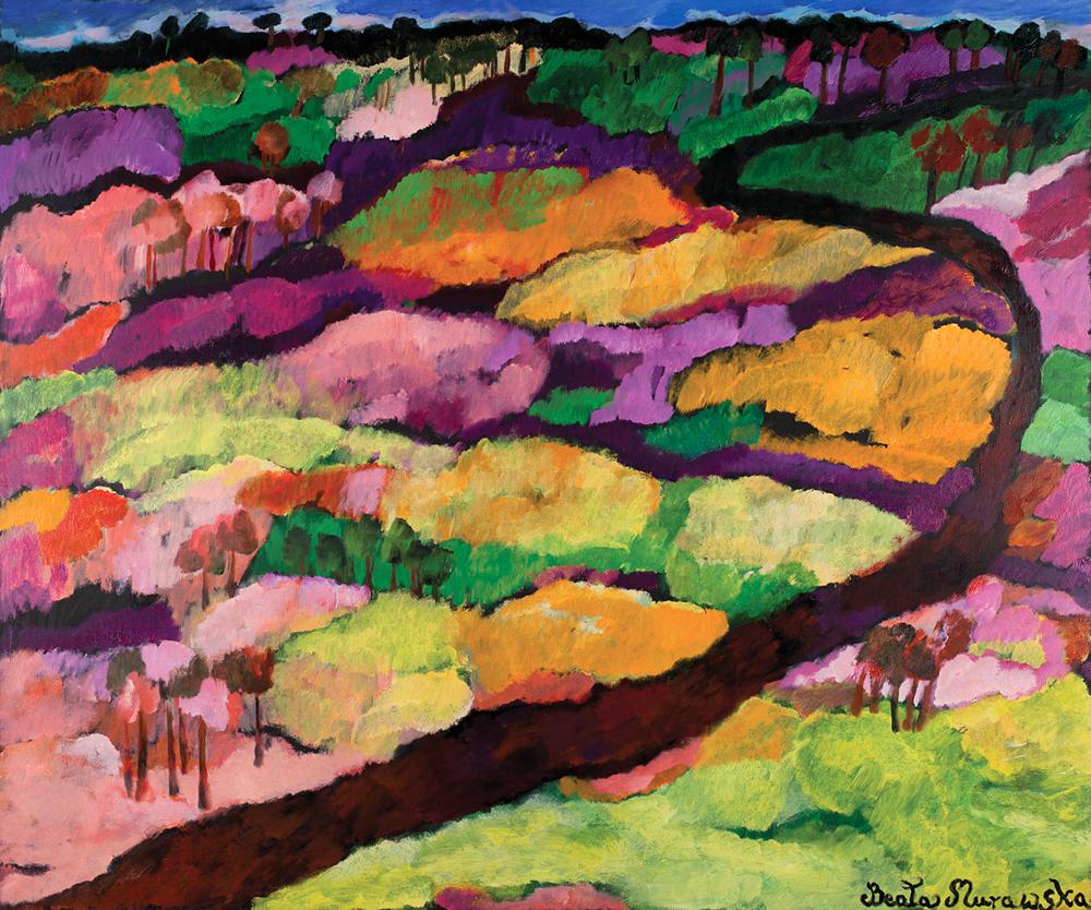 Droga wśród wzgórz | Road Among Hills | Weg zwischen den Hügeln, 2014, 150 × 180 cm