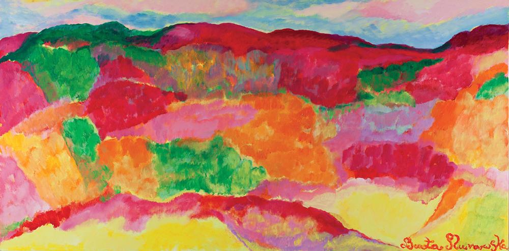 Upalne lato | Sweltering Summer | Heißer Sommer, 2016, 100 × 200 cm