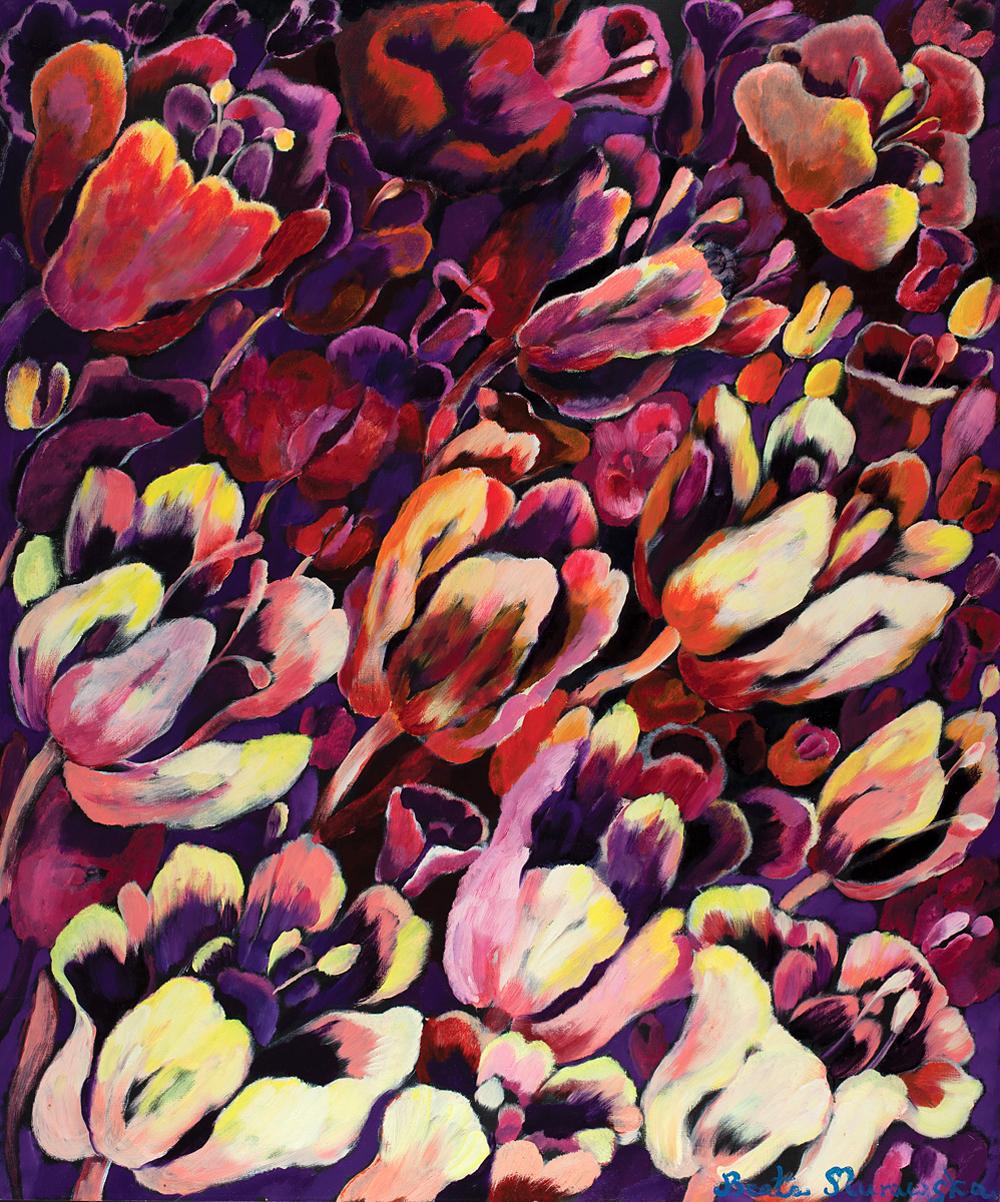 Rozkwit w fiolecie | Purple Blooms | Lila Blüten, 2012, 180 × 150 cm