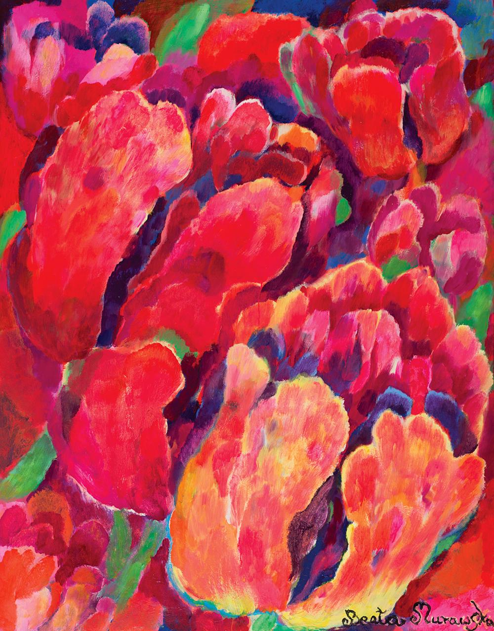 Kielichy | Tulips | Blumenkelche, 2016, 156 × 114 cm