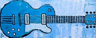 Krzysztof Kokoryn : Blue Guitar : Oil on Canvas