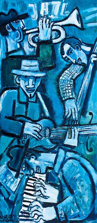 Krzysztof Kokoryn : Blue Jazz : Oil on Canvas
