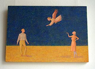 Mikołaj Kasprzyk : Angel After Giotto : Oil on Canvas
