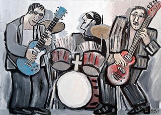 Krzysztof Kokoryn : Grey Trio : Oil on Canvas