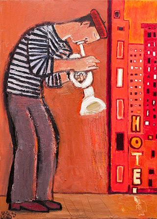 Krzysztof Kokoryn : Hotel : Oil on Canvas
