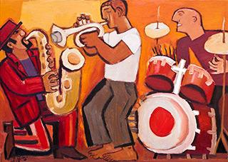 Krzysztof Kokoryn : Yellow Trio : Oil on Canvas