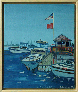 Edward Dwurnik : Fire Island : Oil on canvas