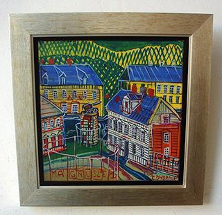 Edward Dwurnik : Magnuszew : Oil on canvas