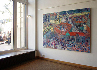 Edward Dwurnik : Warsaw : Oil on canvas