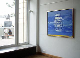 Jacek Łydżba : Sailing ship : Oil on canvas