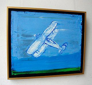 Jacek Łydżba : White plain : Oil on canvas