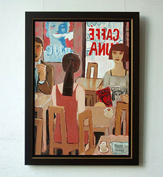 Krzysztof Kokoryn : Caffe Luna : Oil on canvas