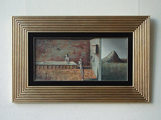 Łukasz Huculak : Waiting for the Barbarians : Tempera on wood