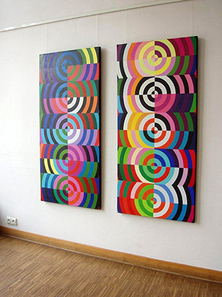 Małgorzata Jastrzębska : Painting 300 & painting 301 : Oil on canvas