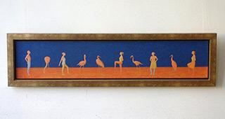 Mikołaj Kasprzyk : Birds : Oil on canvas