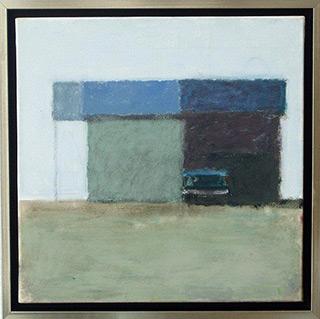 Radek Zielonka : Car in the shadow : Acrylic on canvas