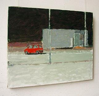 Radek Zielonka : Parking is blank : Acrylic on canvas