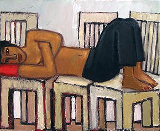 Krzysztof Kokoryn : Rest : Oil on Canvas