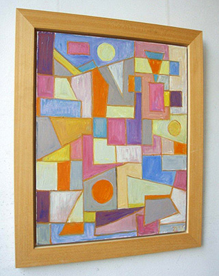 Zofia Matuszczyk-Cygańska : Composition : Oil on canvas