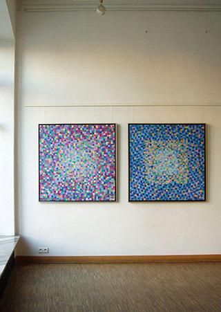 Zofia Matuszczyk-Cygańska : Purple Blue : Oil on canvas