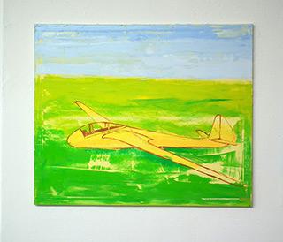 Jacek Łydżba : Glider : Oil on Canvas