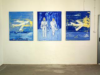 Jacek Łydżba : Triptichon of Blue : Oil on Canvas
