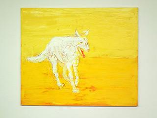 Jacek Łydżba : Wolf : Oil on Canvas