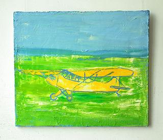 Jacek Łydżba : Yellow plain : Oil on Canvas