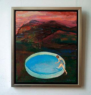 Katarzyna Karpowicz : Circular swimming pool : Oil on Canvas