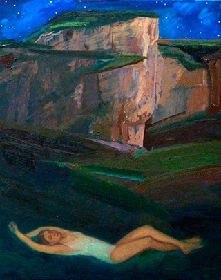 Katarzyna Karpowicz : Dream at Hanging Rock : Oil on Canvas