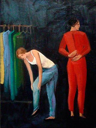 Katarzyna Karpowicz : Changing room : Oil on Canvas