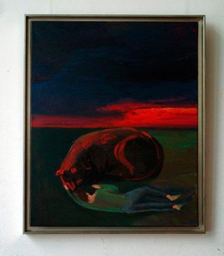 Katarzyna Karpowicz : Sleeping boy : Oil on Canvas
