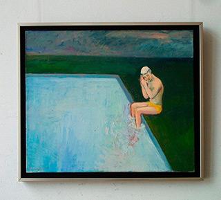 Katarzyna Karpowicz : Swimming pool : Oil on Canvas