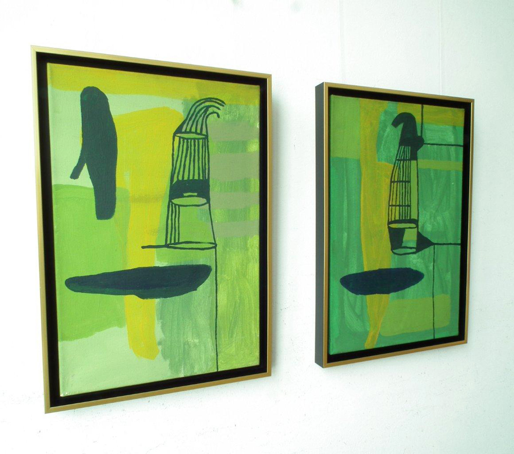 Ciro Beltrán : Painting T - 9755 and Painting T - 9756