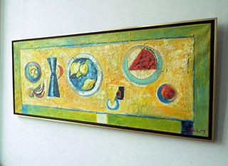 Darek Pala : Long still life : Oil on Canvas