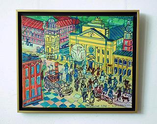Edward Dwurnik : Warsaw - Old city : Oil on Canvas