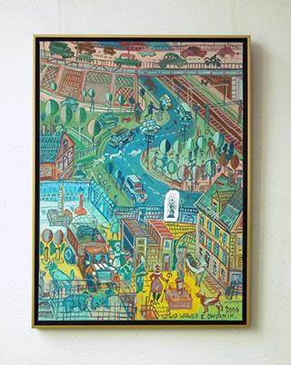 Edward Dwurnik : Warsaw - Wawer : Oil on Canvas