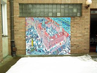 Edward Dwurnik : Warsaw Royal Castle : Oil on Canvas
