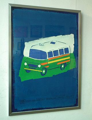 Jacek Łydżba : Microbus : Paper cut