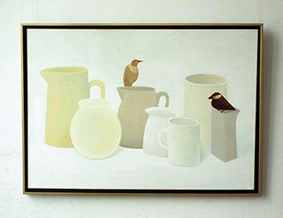 Katarzyna Castellini : White still life : Oil on Canvas