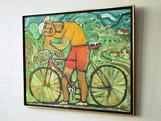 Krzysztof Kokoryn : Cyclist : Oil on Canvas