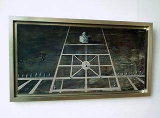 Łukasz Huculak : Cardinal Caraff's small airfield : Oil on Canvas