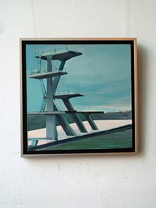 Maria Kiesner : Jump : Tempera on Canvas