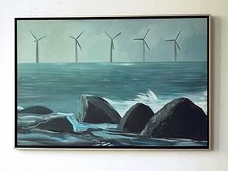 Maria Kiesner : Windmills : Tempera on Canvas