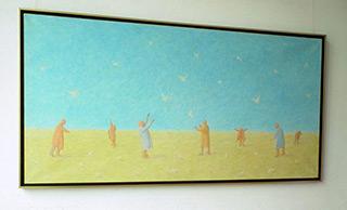 Mikołaj Kasprzyk : Chasing birds : Oil on Canvas
