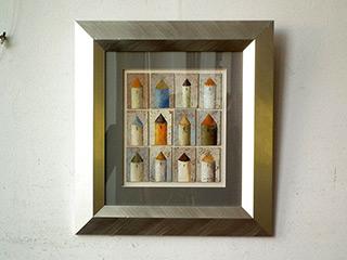 Dariusz Mlącki : Towers : Acrylic on cork
