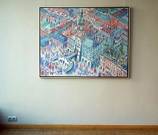 Edward Dwurnik : Zamość : Oil on Canvas