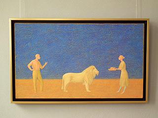 Mikołaj Kasprzyk : White Leo : Oil on Canvas