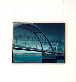 Maria Kiesner : Bridge : Tempera on Canvas